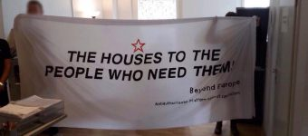 "Solidarity Action at Greek consulate in Berlin – ""The houses to the people who need them"""