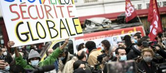 Photo of the demonstration against the Loi de Securite Globale