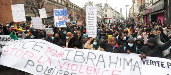 Demonstration in remembrance of Ibrahima B.